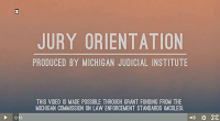 Introductory view of MJI jury-orientation video